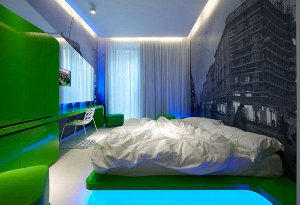 时尚米兰 国外主题精品酒店客房设计效果图欣赏
